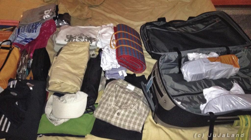 Koffer packen nach 3 Tagen in Ao Nang