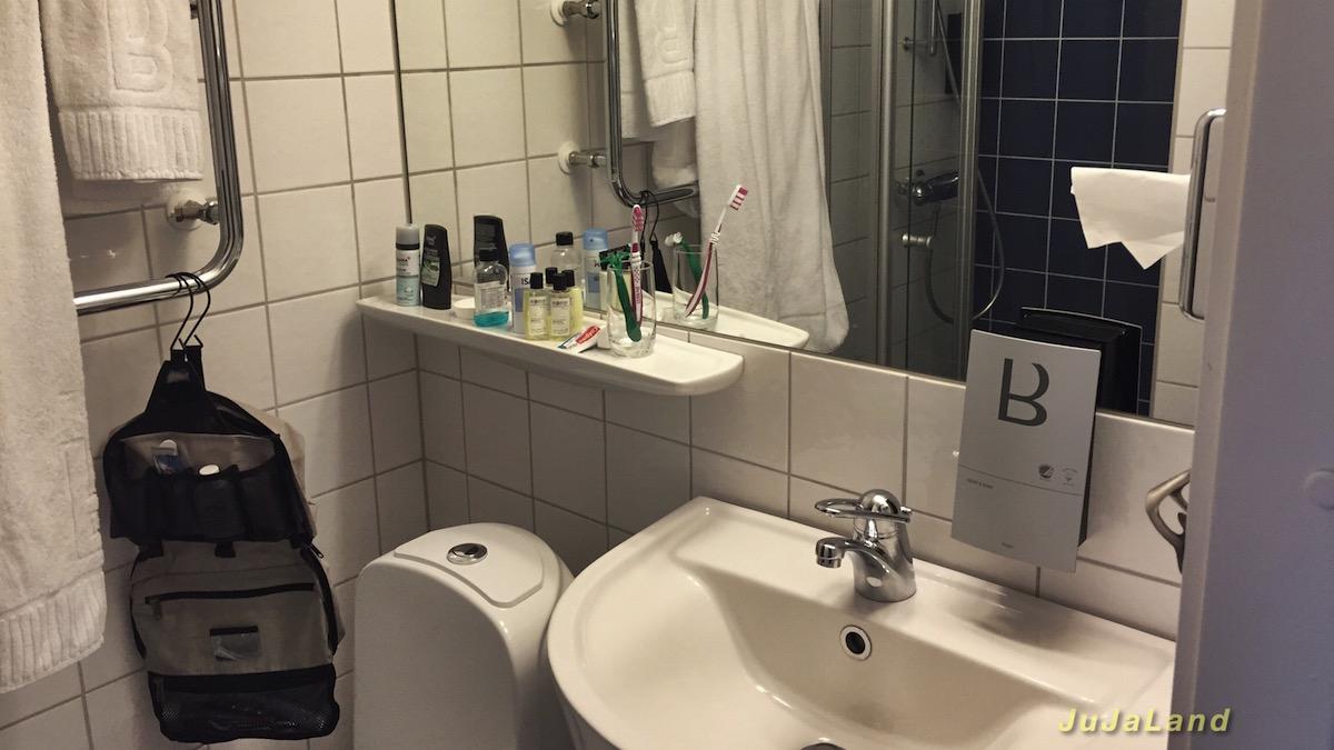 Badezimmer im Hotel Birger Jarl