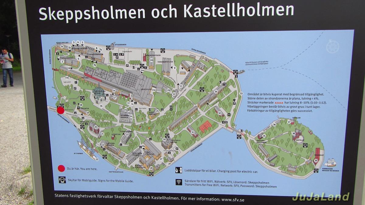 Skeppsholmen - Karte